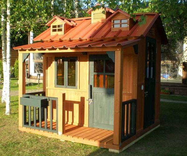 Садовые деревянные домики своими руками