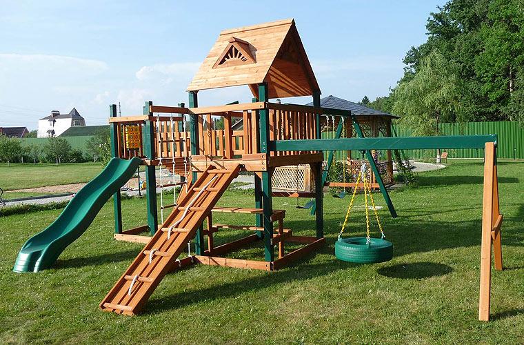 Детская спортивная площадка из дерева
