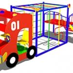 ИМ035-Макет-комплекс-Пожарная-машина
