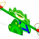 КЧ002-Качалка-балансир-Лягушка