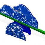 КЧ004-Качалка-балансир-Дельфины