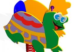 КЧ011-Качалка-на-пружине-Черепаха
