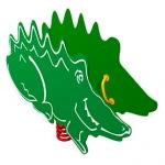 КЧ009-Качалка-на-пружине-Крокодил