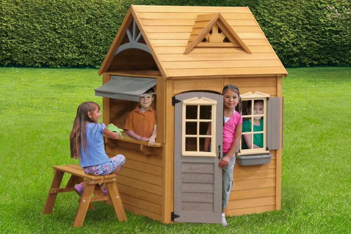 Деревянный домик своими руками фото