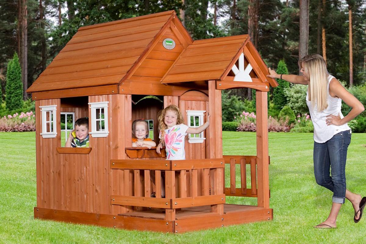 Как сделать домик для детей на улице 651