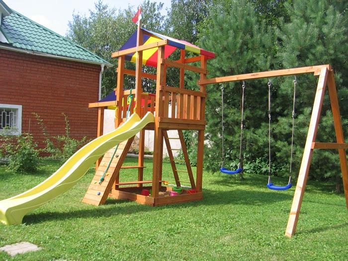Детские деревянные площадки фото 80