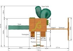 Клубный домик 2 с трубой и рукоходом (6)
