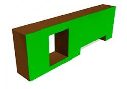 УО006-Препятствие-Стенка-с-двумя-проломами