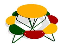 СП015-Столик-детский-Солнышко