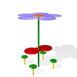 СП091-Стол-с-навесом-Цветок