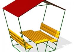 СП018-Стол-со-скамьями-и-навесом