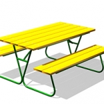 СП016-Стол-со-скамьями-М1