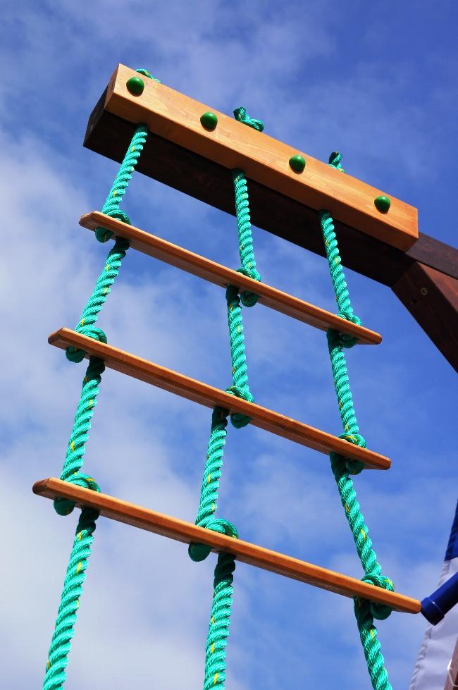 Детская лестница веревочная своими руками