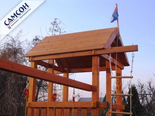 Деревянная крыша для детской игровой площадки