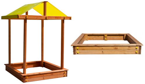 Песочница деревянная с крышей Самсон Дюна в Рязани