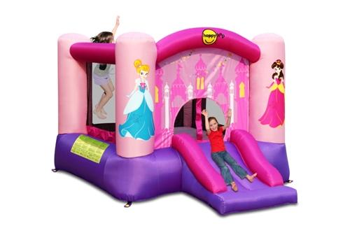 Надувной батут замок с горкой Принцесса