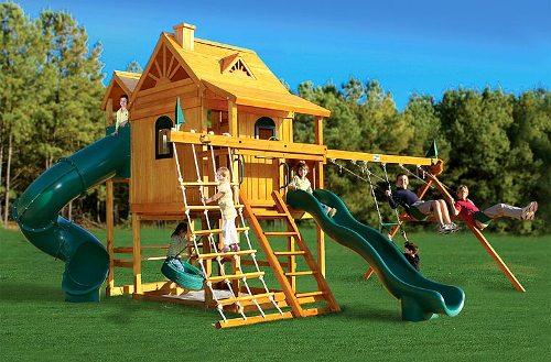 Детский спортивный игровой комплекс Горный дом Deluxe в Рязани