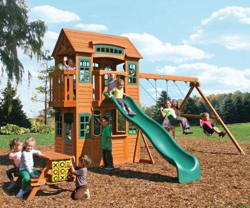Кедровый замок, детская площадка в Рязани