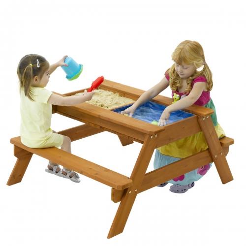Купить песочницу-стол в Рязани с крышкой