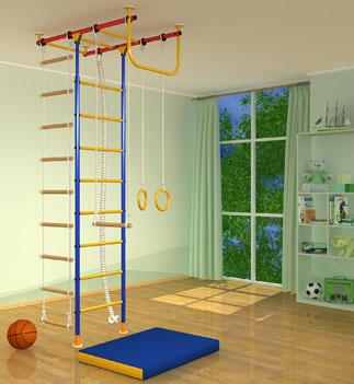 Детский спортивный комплекс для дома Самсон - шведская стенка из металла