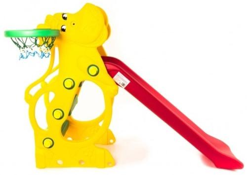 Горка детская пластикова Бегемот с кольцом