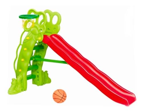 Горка детская пластиковая Бегемот с кольцом