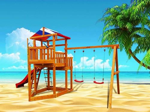 Детская площадка с качелями игоркой Ассоль в морском стиле
