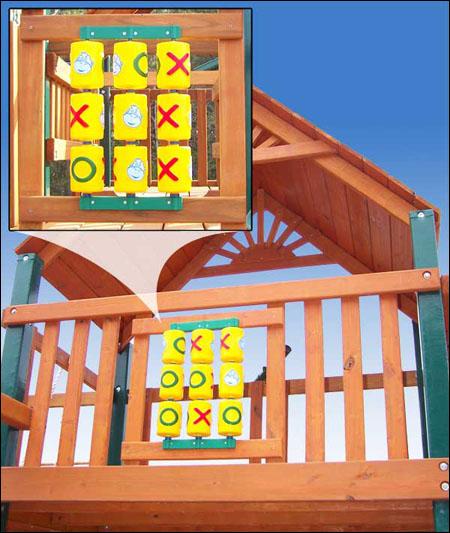 Игровая панель крестики-нолики для детской площадки