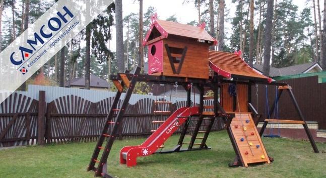 Купить детскую площадку из дерева