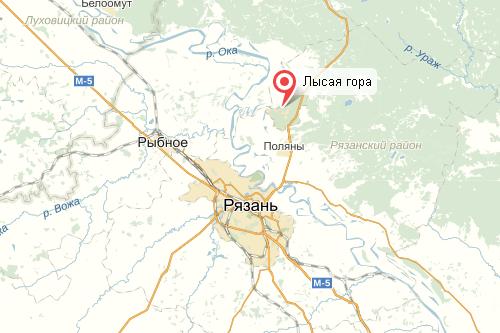 Как доехать до лысой горы в Солотче