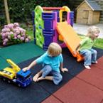 Резиновое покрытие плитка для детской площадки в Рязани