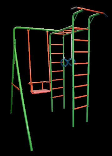 Детская площадка из металла с качелями металлическими