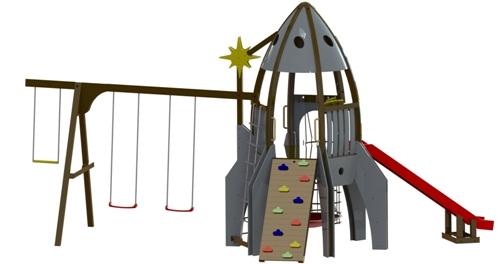 Детская площадка Ракета в Рязани