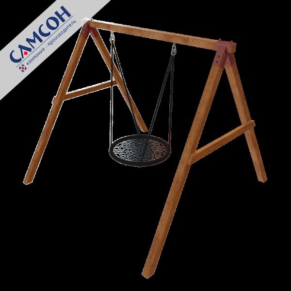 Купить качели-гнездо в Рязани для дачи деревянные