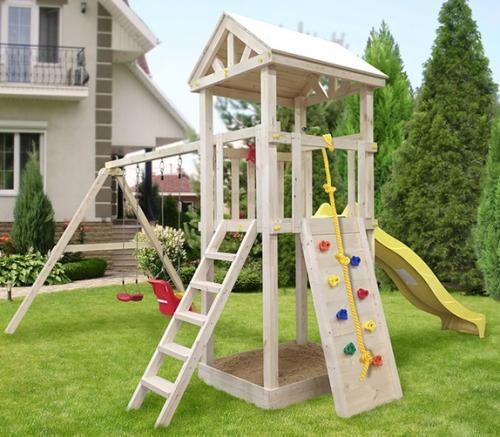Купить детскую площадку со скалодромом дешево в Рязани