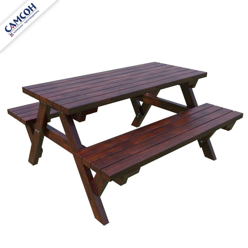 Стол дачный большой деревянный