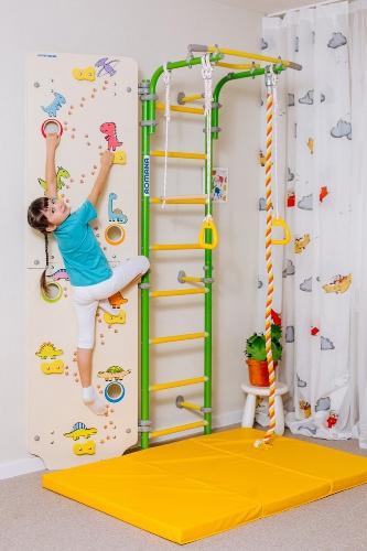 Шведская стенка Романа со скалодромом - купить шведскую стенку в Рязани