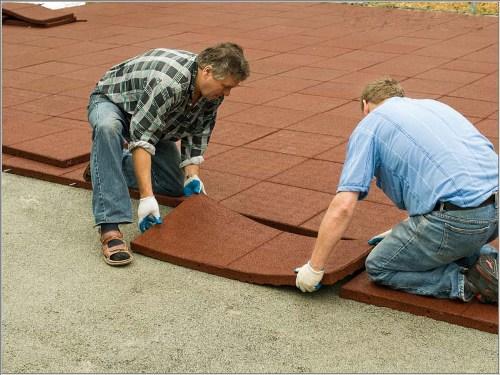 FS45 safety tiles assembly