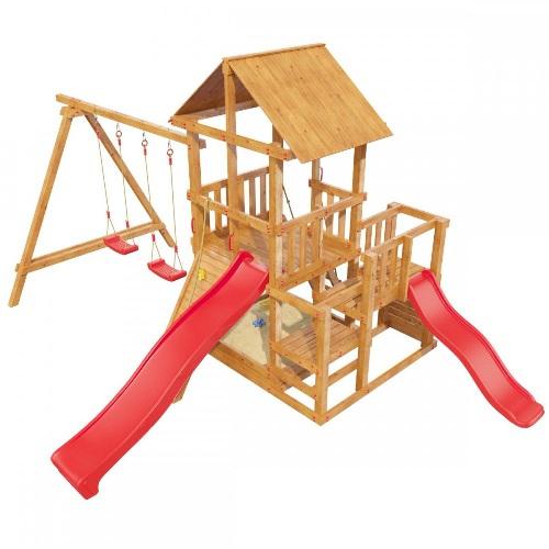 Купить детскую площадку с двумя горками и качелями Сибирика в Рязани, Москве, Коломне