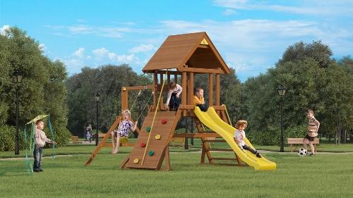 Детская площадка Панорама с прямой горкой
