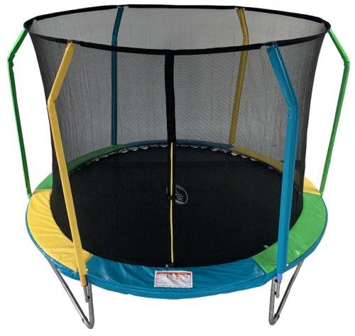 Купить разноцветный детский батут в Рязани Sport Elit Fly с сеткой