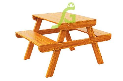 Купить деревянный столик с лавочками в Рязани
